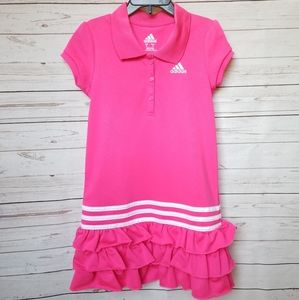 Pink and White Adidas Dress
